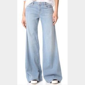 J Brand 31 Chase Blue Lynette Super Wide Leg Jeans